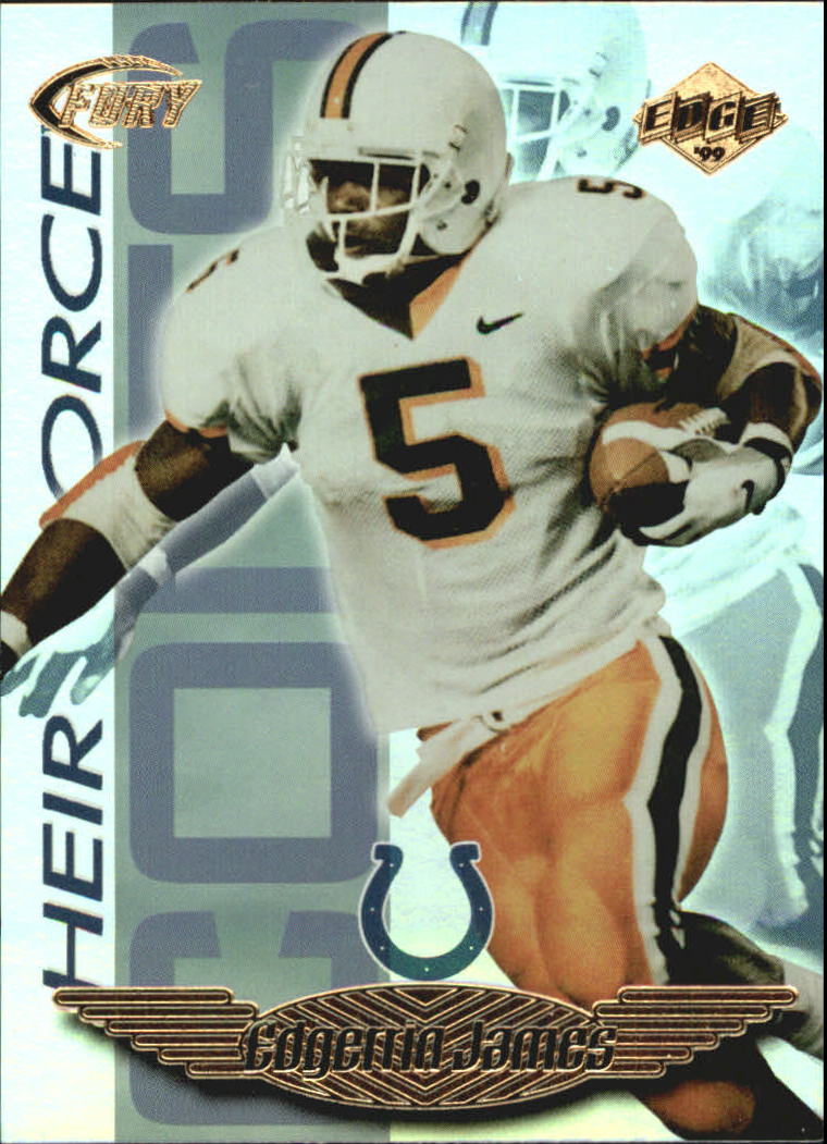1999 Collector's Edge Fury Heir Force #HF12 Edgerrin James front image