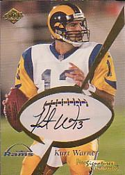 1999 Collector's Edge Masters Pro Signature Authentics #2 Kurt Warner/500