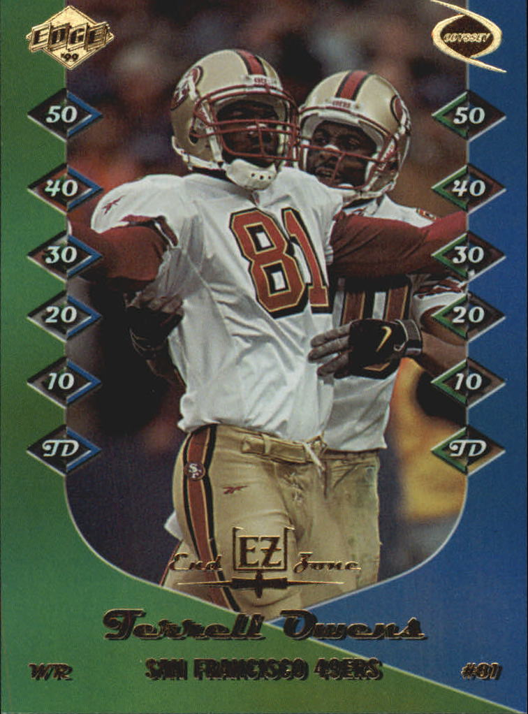 1999 Collector's Edge Odyssey End Zone #EZ16 Terrell Owens