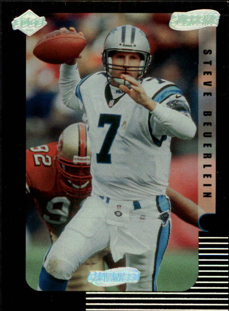 1999 Collector's Edge Supreme Galvanized #19 Steve Beuerlein
