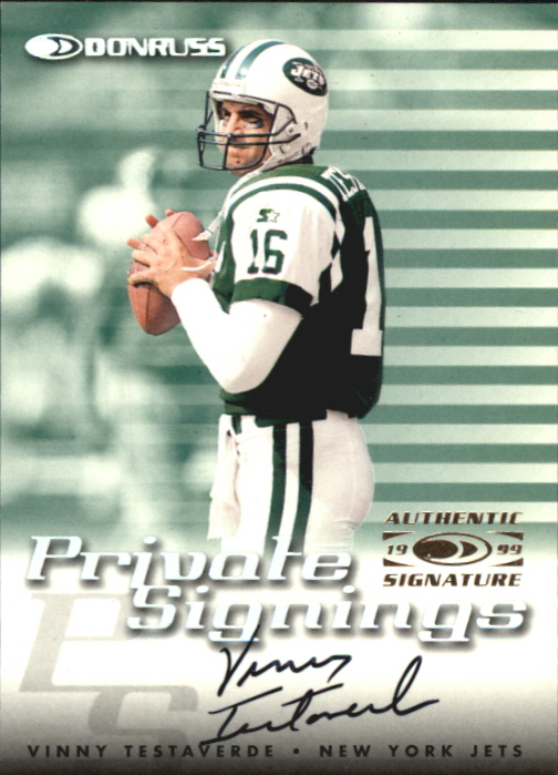 1999 Donruss Private Signings #26 Vinny Testaverde/500*