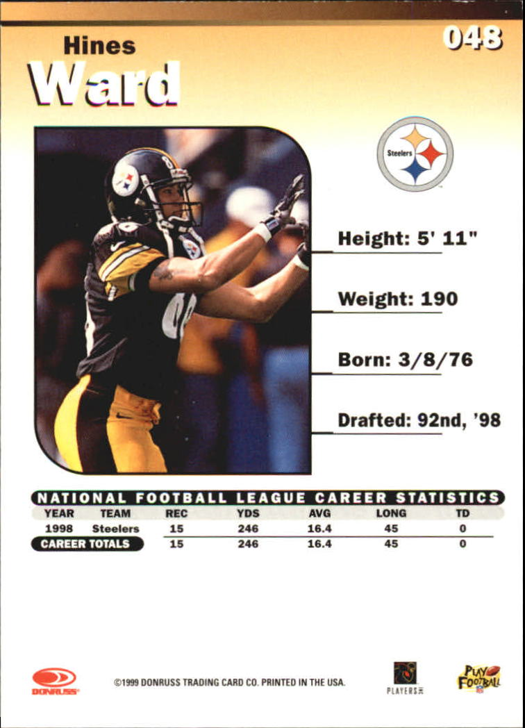 1999 Donruss Elite #48 Hines Ward back image