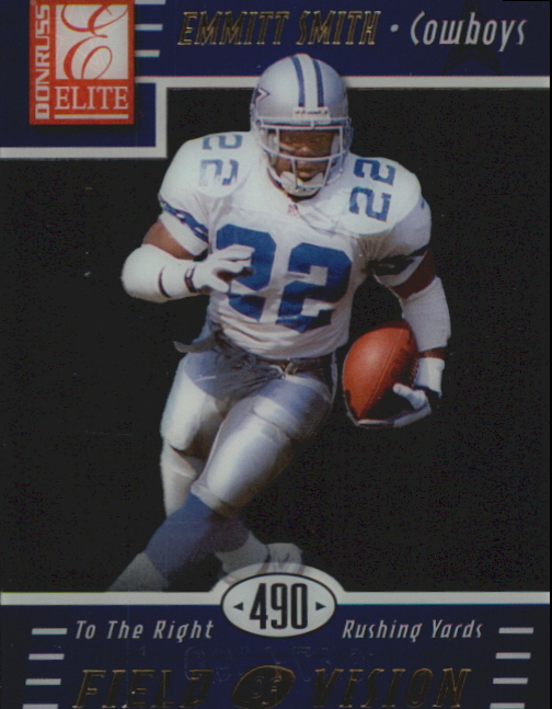 1999 Donruss Elite Field of Vision #2C Emmitt Smith/490