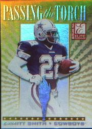 1999 Donruss Elite Passing the Torch #5B Emmitt Smith