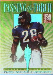 1999 Donruss Elite Passing the Torch #6B Fred Taylor