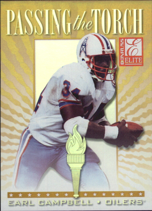 1999 Donruss Elite Passing the Torch #8 Earl Campbell