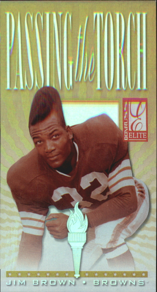 1999 Donruss Elite Passing the Torch #10 Jim Brown/Terrell Davis
