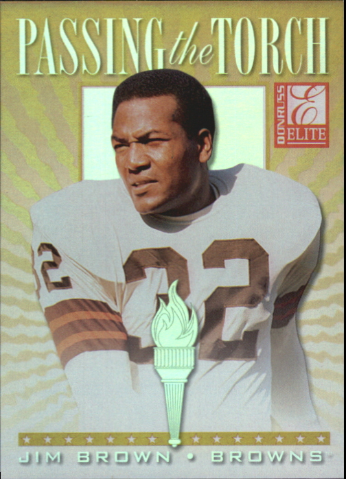 1999 Donruss Elite Passing the Torch #11 Jim Brown