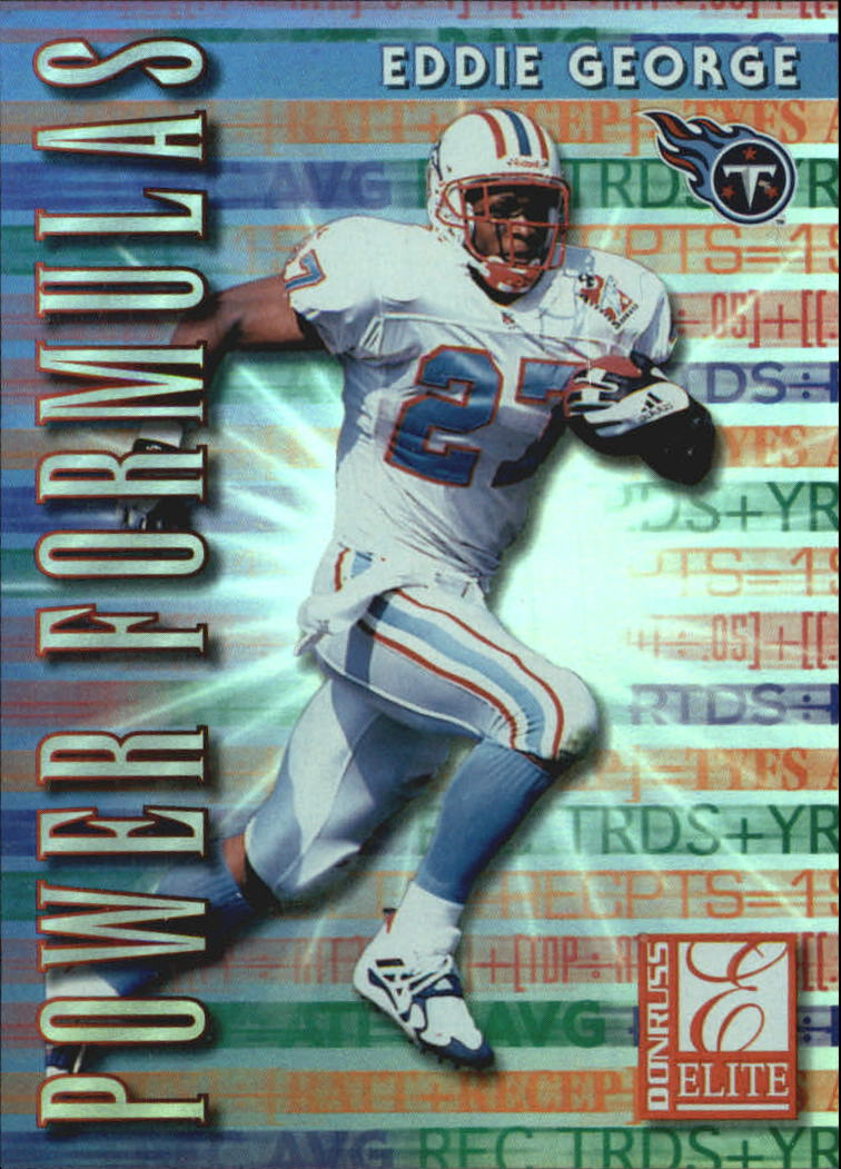1999 Donruss Elite Power Formulas #16 Eddie George