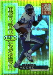 1999 Donruss Elite Primary Colors Yellow #1 Herman Moore