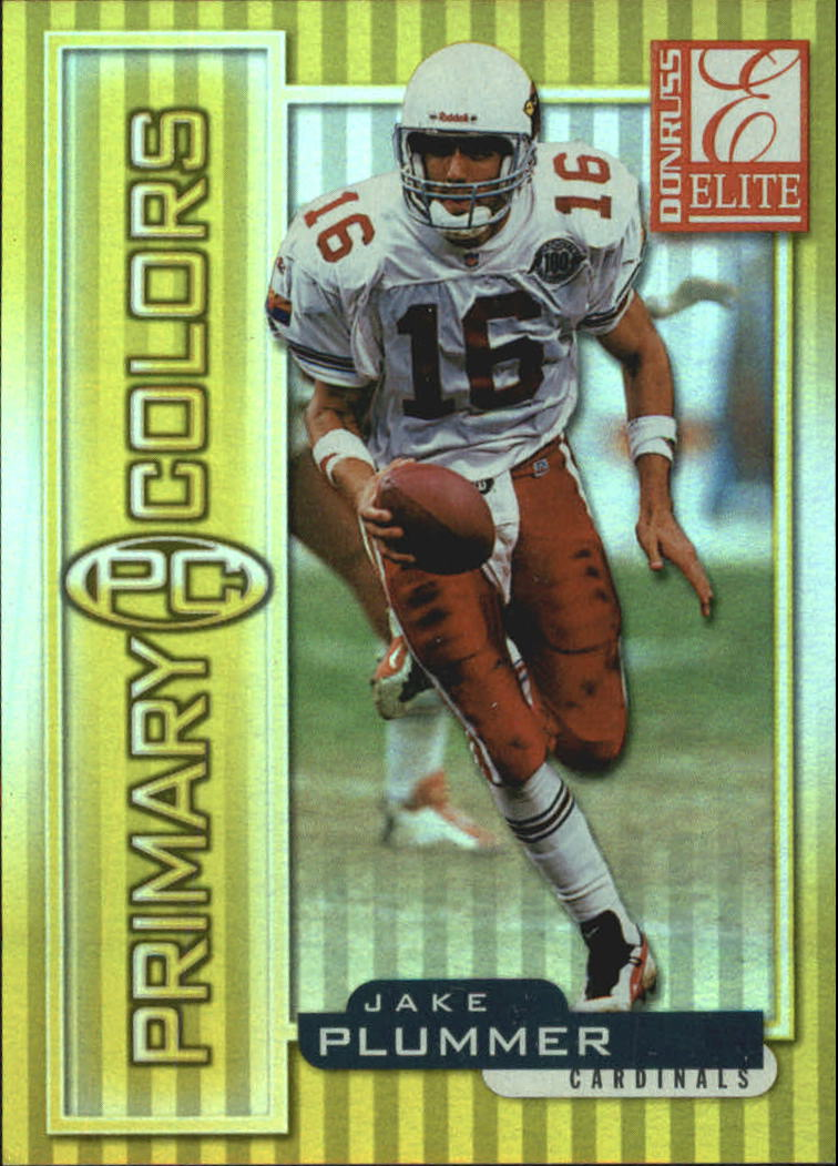 1999 Donruss Elite Primary Colors Yellow #17 Jake Plummer