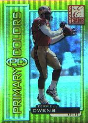 1999 Donruss Elite Primary Colors Yellow #24 Terrell Owens