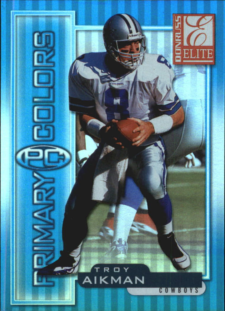 1999 Donruss Elite Primary Colors Blue #7 Troy Aikman