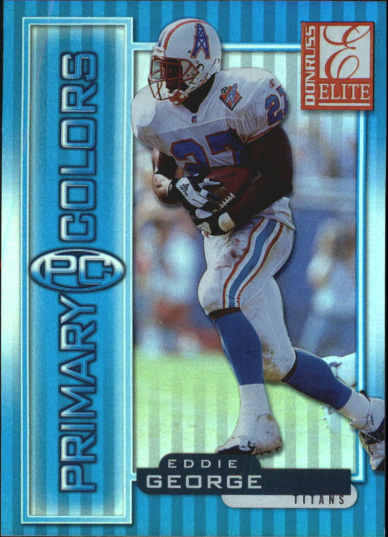 1999 Donruss Elite Primary Colors Blue #9 Eddie George