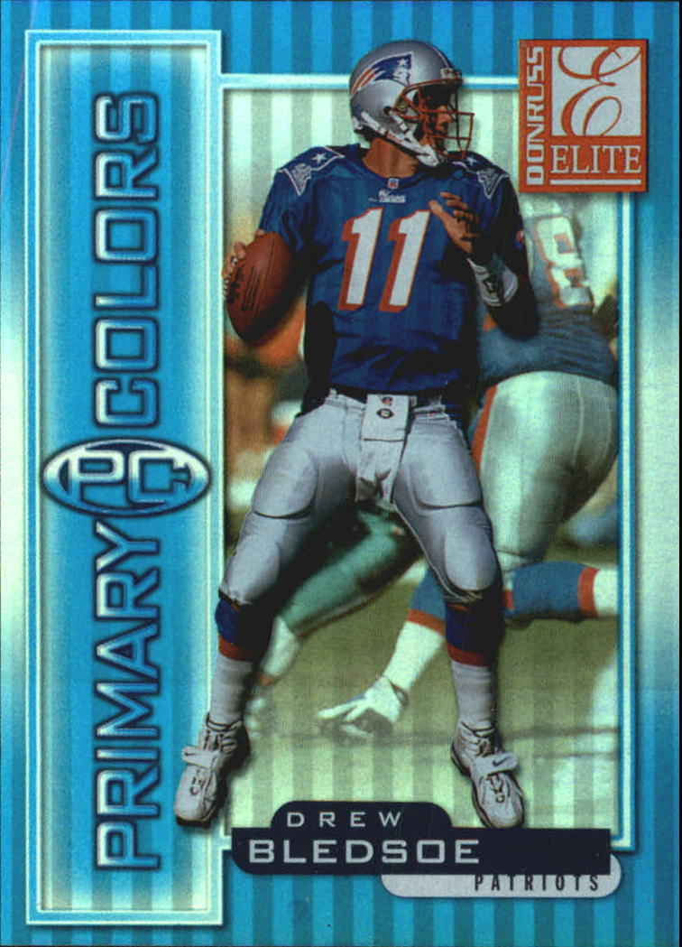 1999 Donruss Elite Primary Colors Blue #11 Drew Bledsoe