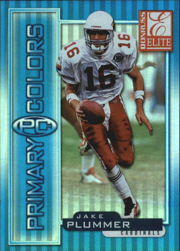 1999 Donruss Elite Primary Colors Blue #17 Jake Plummer