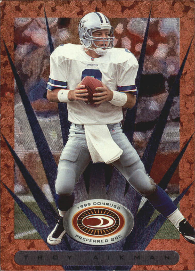 1999 Donruss Preferred QBC #1 Troy Aikman B