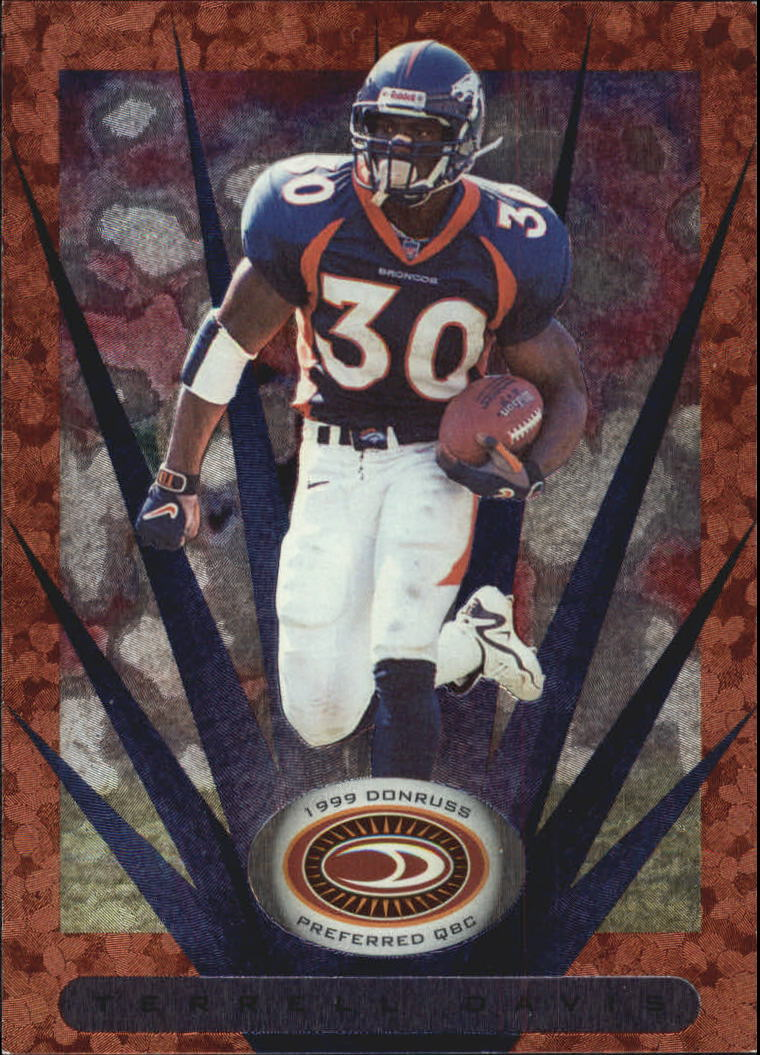 1999 Donruss Preferred QBC #9 Terrell Davis B