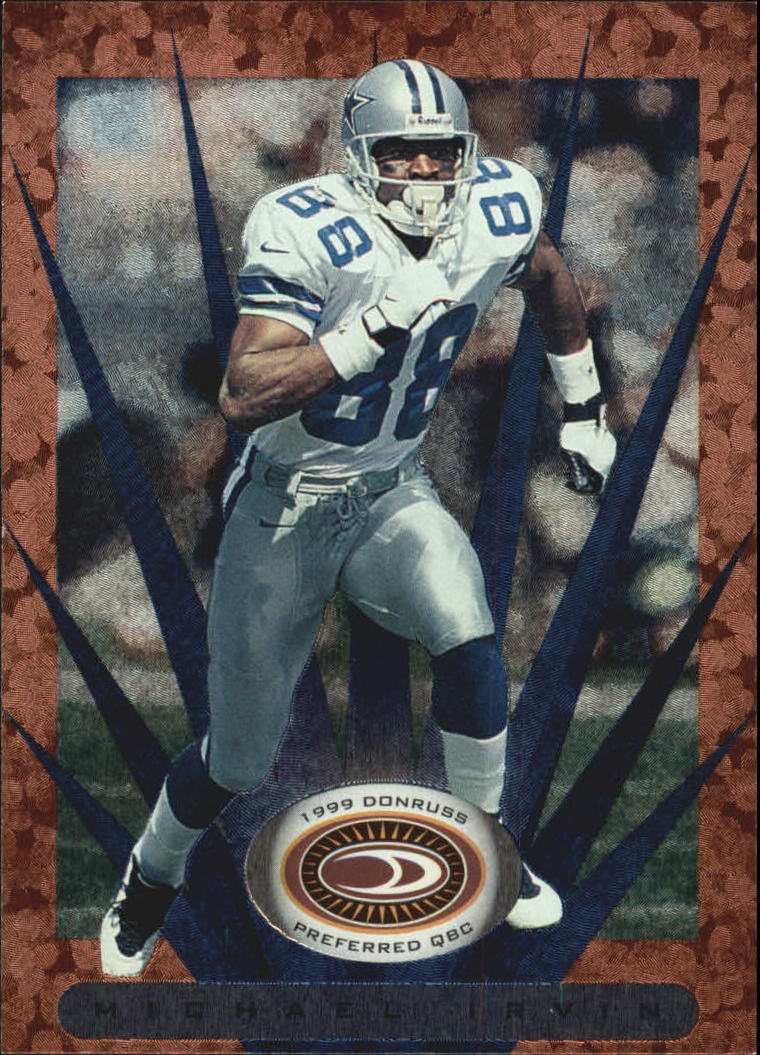 1999 Donruss Preferred QBC #20 Michael Irvin B