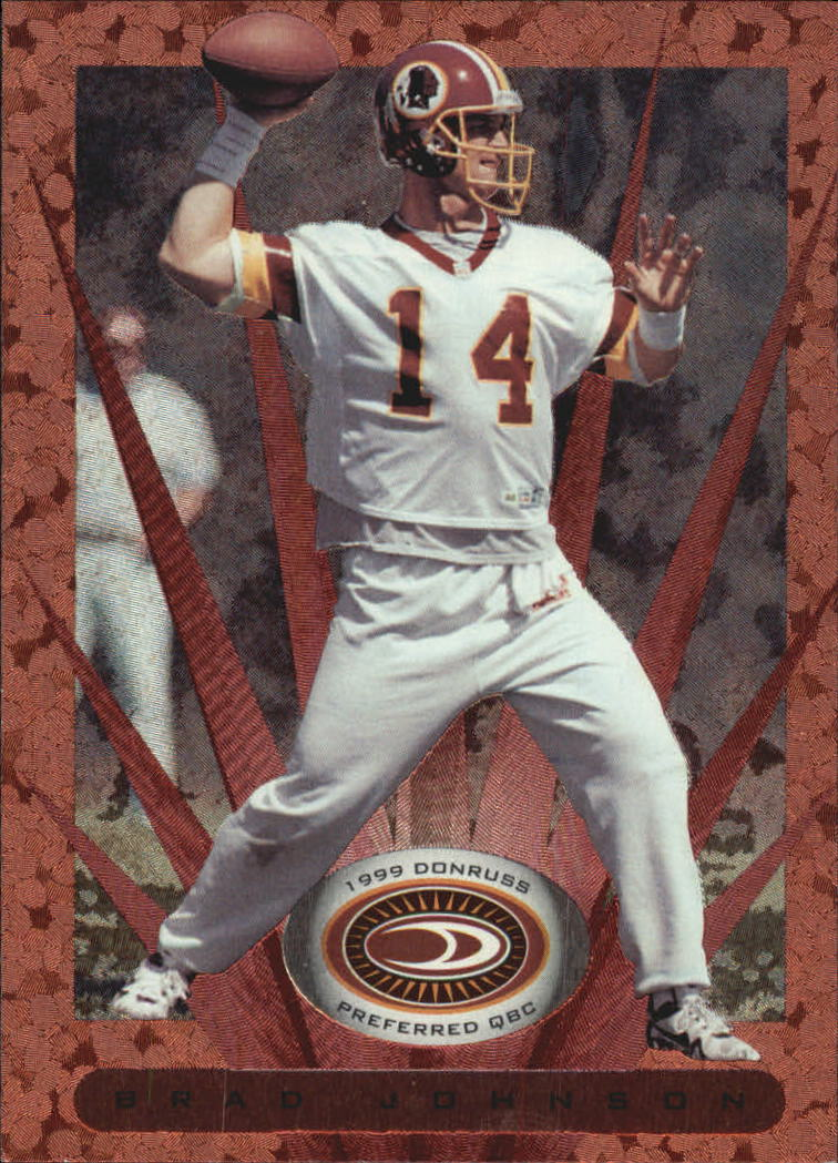 1999 Donruss Preferred QBC #21 Brad Johnson B