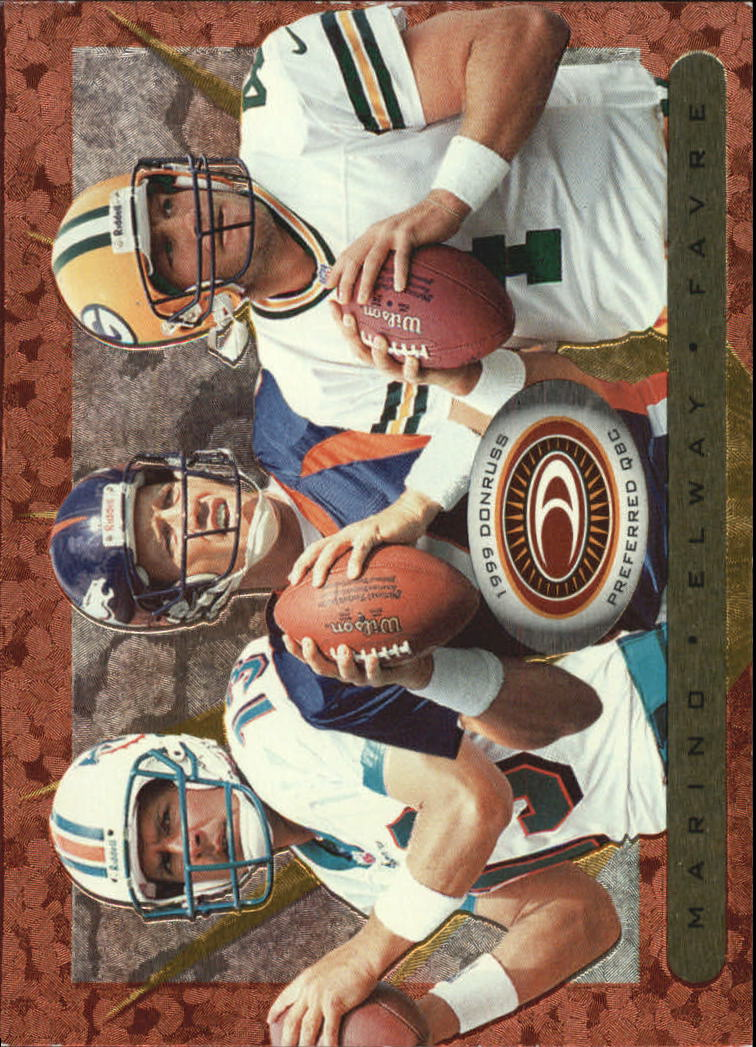 1999 Donruss Preferred QBC #45 Marino/Favre/Elway B