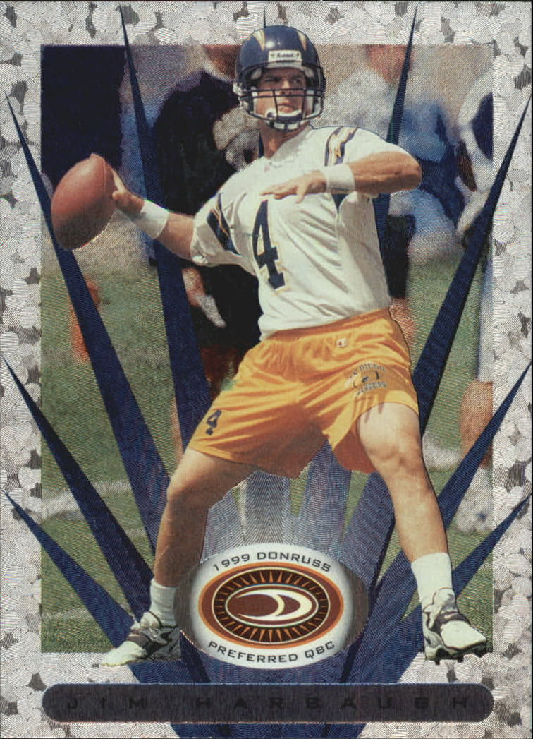 1999 Donruss Preferred QBC #60 Jim Harbaugh S