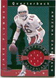 1999 Donruss Preferred QBC Materials #4 Jake Plummer J