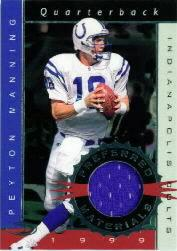 1999 Donruss Preferred QBC Materials #6 Peyton Manning J