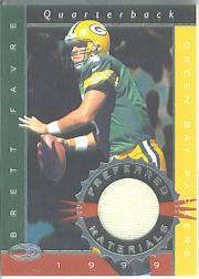 1999 Donruss Preferred QBC Materials #12 Brett Favre S