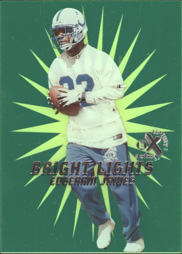 1999 E-X Century Bright Lights #9BL Edgerrin James