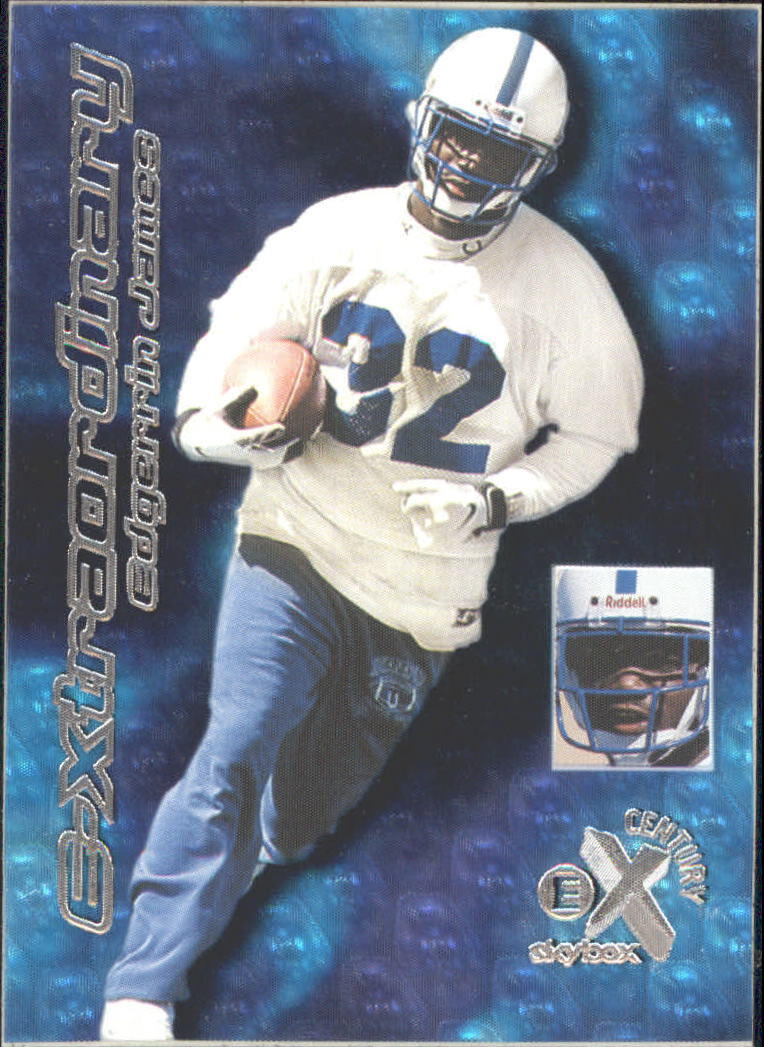 1999 E-X Century E-Xtraordinary #5XT Edgerrin James