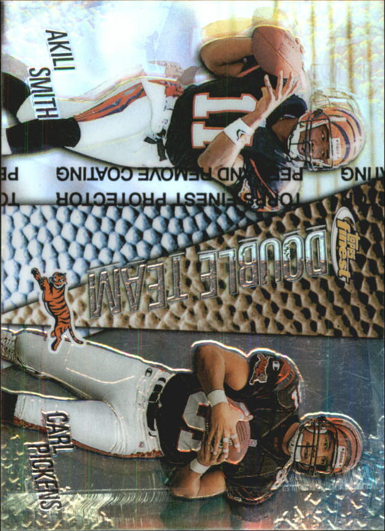 1999 Finest Double Team Left Side Refractors #DT1 Ak.Smith/C.Pickens