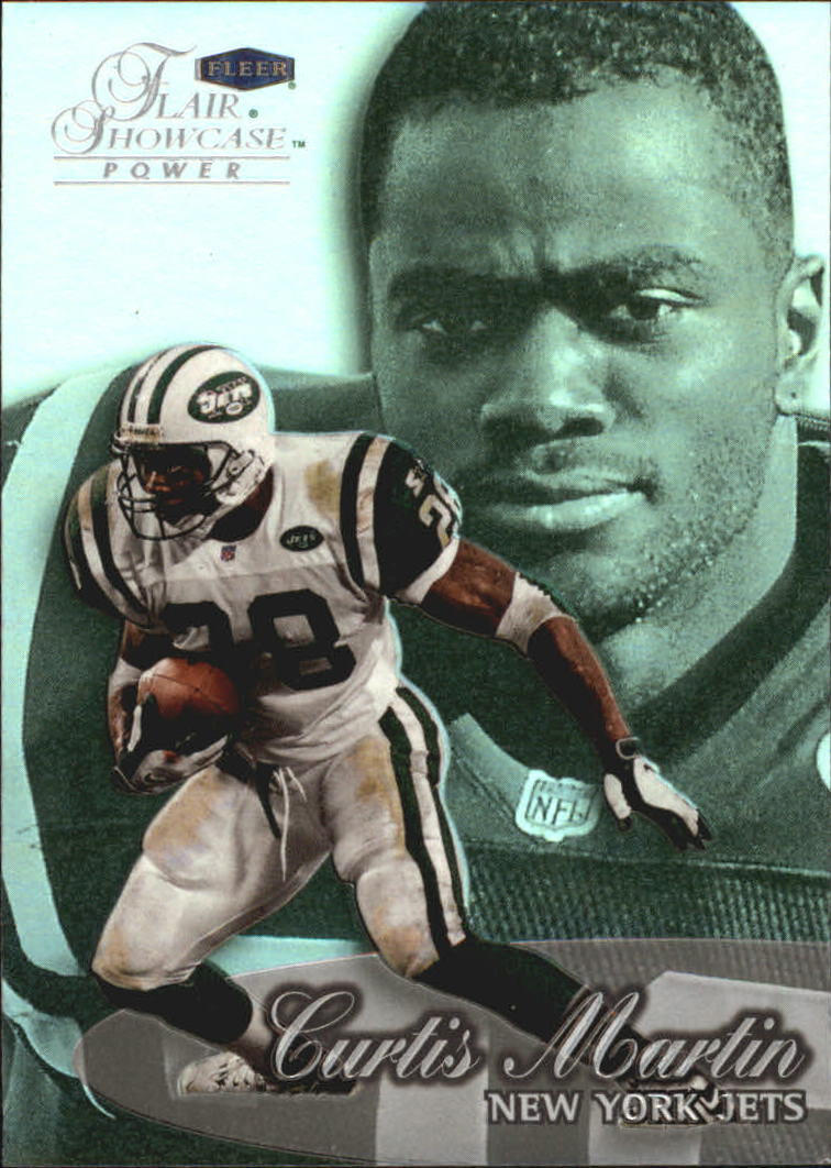 1999 Flair Showcase #20 Curtis Martin PW