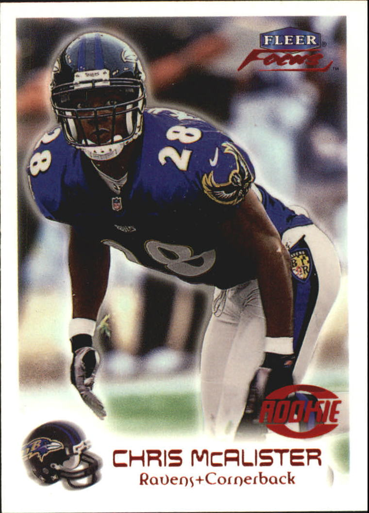 1999 Fleer Focus #108 Chris McAlister RC