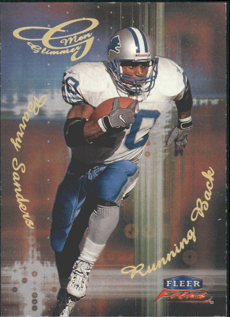 1999 Fleer Focus Glimmer Men #2R Barry Sanders