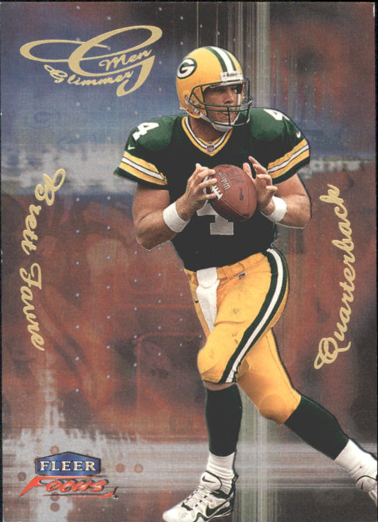 1999 Fleer Focus Glimmer Men #6R Brett Favre