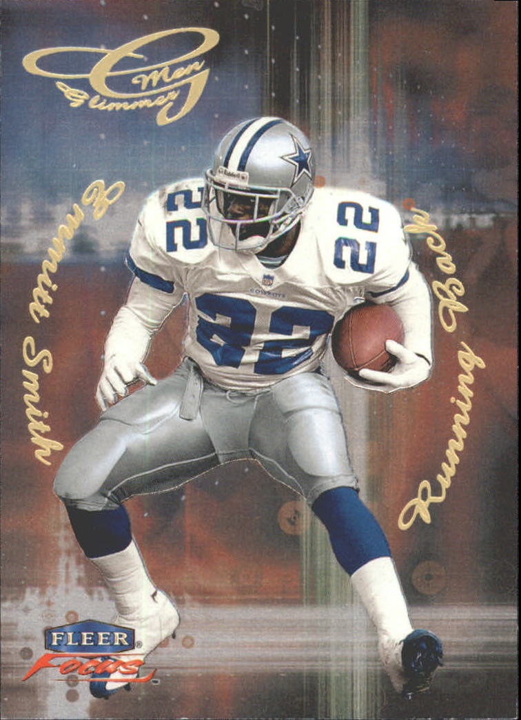 1999 Fleer Focus Glimmer Men #8R Emmitt Smith