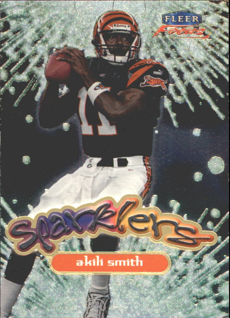 1999 Fleer Focus Sparklers #3S Akili Smith