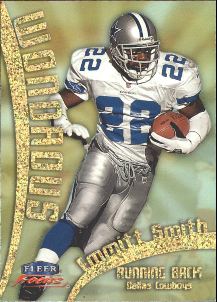 1999 Fleer Focus Wondrous #9W Emmitt Smith