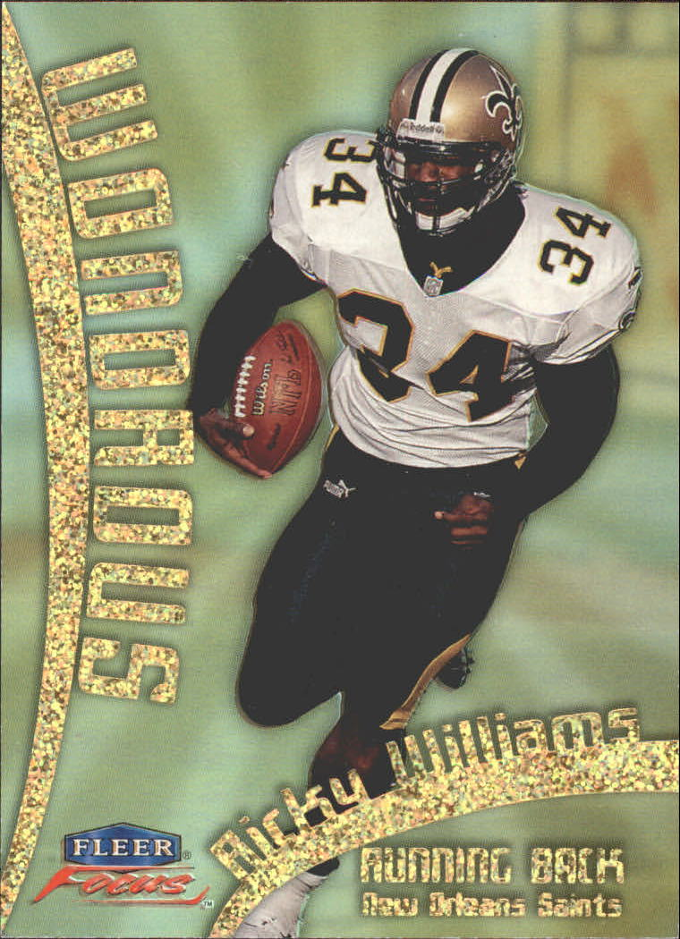 1999 Fleer Focus Wondrous #14W Ricky Williams