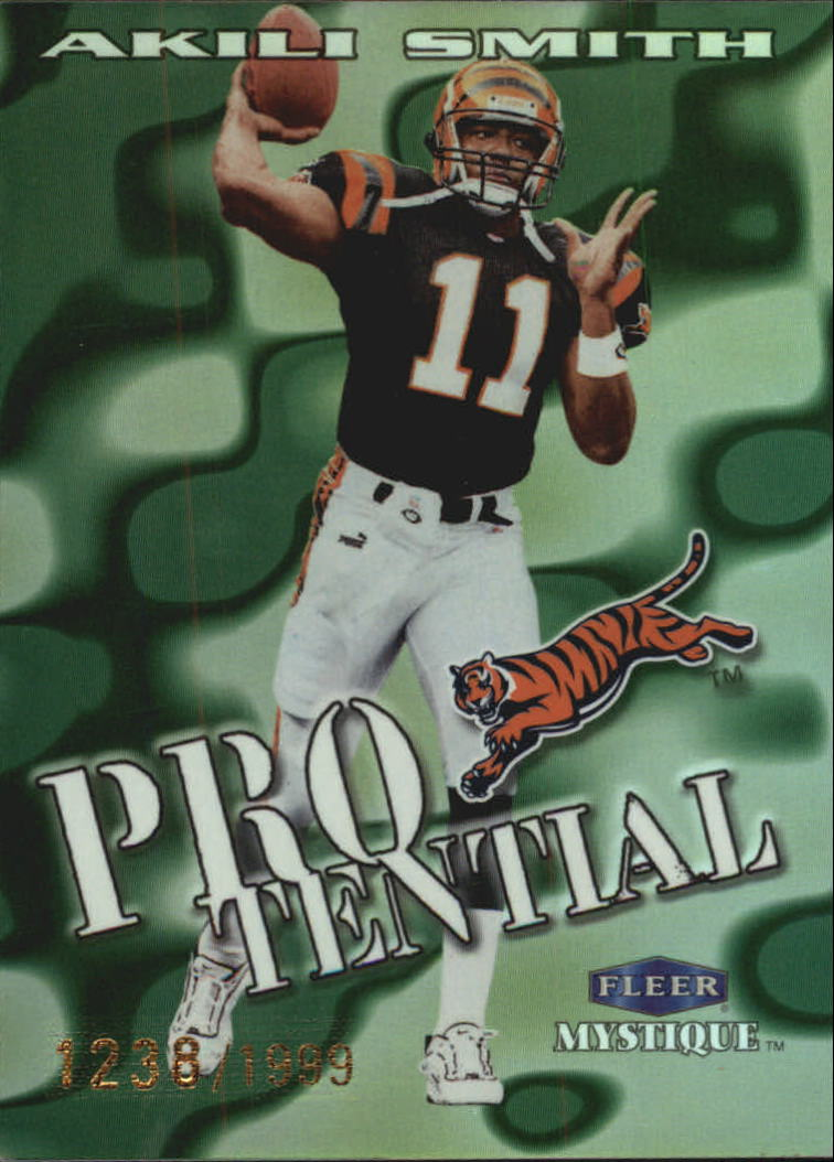 1999 Fleer Mystique Protential #3PT Akili Smith