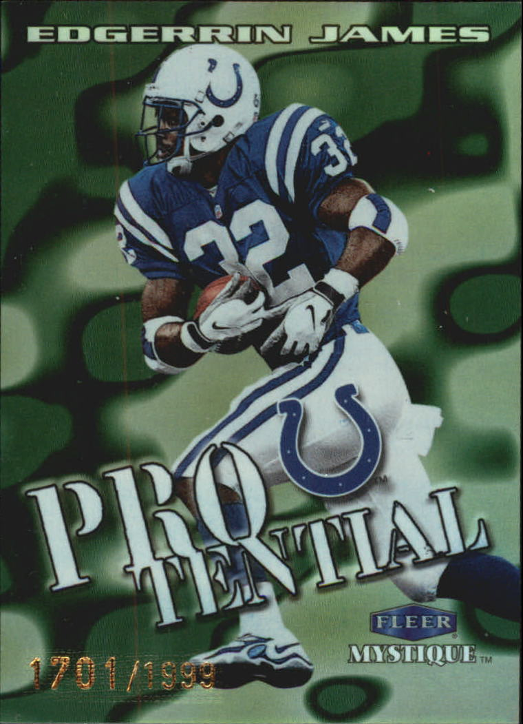 1999 Fleer Mystique Protential #7PT Edgerrin James