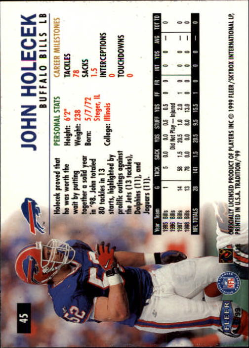 2011nm:`eK�^�;�b���少_tradition buffalo bills football card #45 john holecek - nm-mt