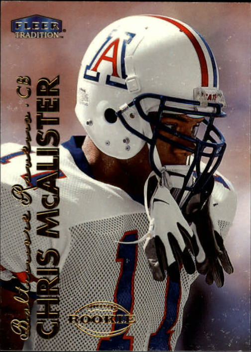 1999 Fleer Tradition #287 Chris McAlister RC