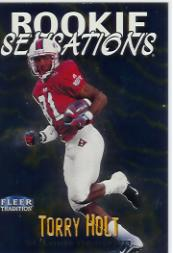 1999 Fleer Tradition Rookie Sensations #9 Torry Holt