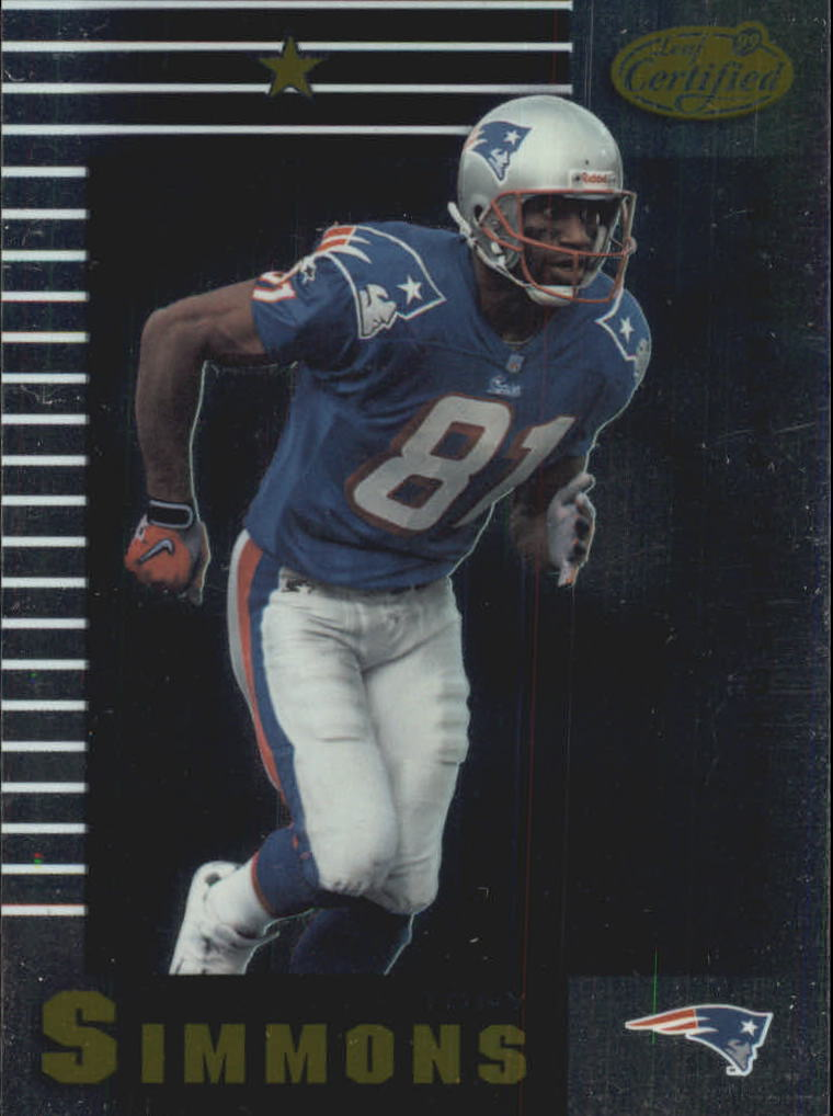 1999 Leaf Certified #60 Tony Simmons