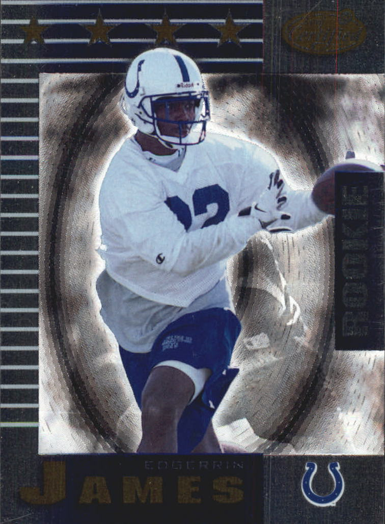 1999 Leaf Certified #198 Edgerrin James RC