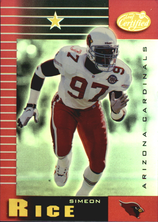 1999 Leaf Certified Mirror Red #1 Simeon Rice