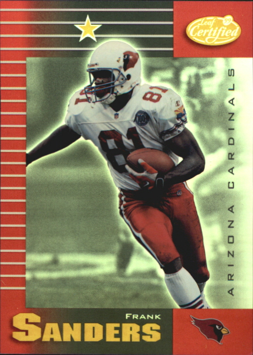 1999 Leaf Certified Mirror Red #2 Frank Sanders