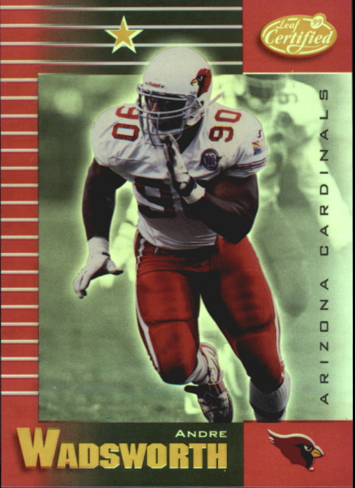1999 Leaf Certified Mirror Red #3 Andre Wadsworth